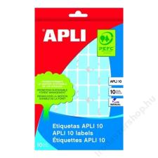 APLI Etikett, 10 mm kör, kézzel írható, színes, APLI, sárga, 1008 etikett/csomag (LCA2730) etikett