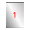 APLI Etikett, 210x297 mm, poliészter, időjárásálló, AP