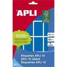 APLI Etikett, 25x40 mm, kézzel írható, színes, kerekített sarkú, APLI, kék, 128 etikett/csomag etikett