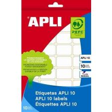 APLI Etikett, 34x67 mm, kézzel írható, kerekített sarkú, APLI, 60 etikett/csomag etikett