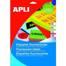 APLI Etikett, 64x33,9 mm, színes, kerekített sarkú, APLI, neon sárga, 480 etikett/csomag etikett