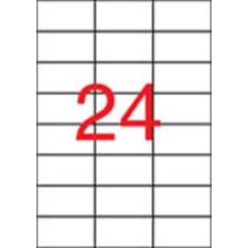 APLI Etikett, 70x37 mm, poliészter, APLI, átlátszó, 240 etikett/csomag etikett