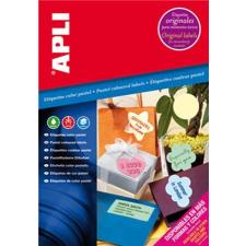 APLI Etikett, 70x37 mm, színes, APLI, pasztell kék, 480 etikett/csomag etikett