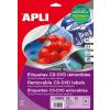 """APLI Etikett, CD/DVD, A4, teljes lefedettségű, matt, eltávolítható, APLI """"Mega"""""""