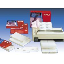 APLI Etikett, mátrixnyomtatókhoz, 2 pályás, 101,6x36 mm, APLI, 8000 etikett/csomag etikett