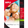 "APLI Fotópapír, tintasugaras, A4, 140 g, fényes, APLI ""Best Price"""