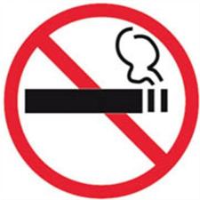 APLI Információs matrica, tilos a dohányzás, APLI információs címke