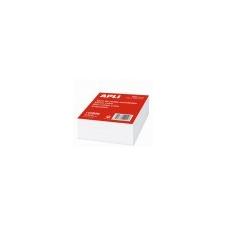 APLI Kockatömb, fehér, 100x100 mm, 500 lap jegyzettömb