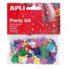 APLI Konfetti, metál, 13 mm, virágok, APLI, vegyes színek (LCA13818)