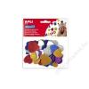 APLI Moosgumi, öntapadó, glitteres, szívek, APLI Eva Sheets, vegyes színek (LCA13484)