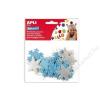 APLI Moosgumi, öntapadó, hópihe, glitteres, APLI Eva Sheets, kék és ezüst színek (LCA13488)