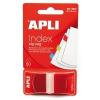 APLI műanyag jelölőcímke, 50 lap, 25x45 mm, piros