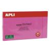 APLI Öntapadó jegyzettömb, 125x75 mm, 100 lap, APLI, pink