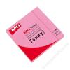APLI Öntapadó jegyzettömb, 75x75 mm, 100 lap, APLI, neon rózsaszín (LNP11898)