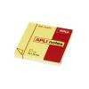 APLI Öntapadós jegyzettömb, 100 lapos, sárga, 75 x 75 mm