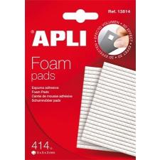 APLI Ragasztó négyzetek, 414 db/csomag, kétoldalas, APLI irodai kellék
