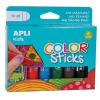 """APLI Tempera stift készlet, APLI """"Kids"""", 6 különböző szín"""