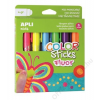 """APLI Tempera stift készlet, toll alakú, APLI """"Kids"""", 6 különböző fluoreszkáló szín (LCA14404)"""