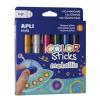 """APLI Tempera stift készlet, toll alakú, """"Kids"""", 6 különböző metál szín"""