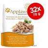 Applaws aszpikban tasakban gazdaságos csomag 32 x 70 g - Tonhal & makréla