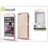 Apple Apple iPhone 6/6S hátlap - Muvit Frame TPU - clear/pink