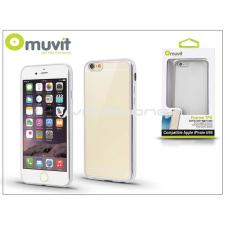 Apple Apple iPhone 6/6S hátlap - Muvit Frame TPU - clear/silver tok és táska