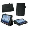 Apple iPad 2 / iPad 3 / iPad 4, bőrtok, mappa tok, fekete