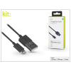 Apple iPhone 5/5S/5C/SE/iPad 4/iPad Mini USB töltő- és adatkábel - 1 m-es vezetékkel (Apple MFI eng.) - Kit Charge/Cable Lightning - black