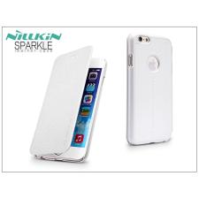 Apple iPhone 6/6S oldalra nyíló flipes tok - Nillkin Sparkle - fehér tok és táska