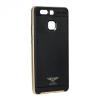 Apple iPhone 6 / 6S, TPU szilikon tok, műanyag kerettel, Kaku Silk, karbonminta, fekete/arany