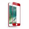 Apple iPhone 7 / 8, Kijelzővédő fólia, ütésálló fólia (az íves részre is!), Tempered Glass (edzett üveg), 3D Full Cover, piros