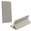 Apple iPhone 7 Plus / 8 Plus, Oldalra nyíló tok, stand, Luna Book, ezüst