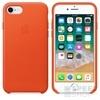 Apple iPhone 8/7 gyári bőr hátlap tok, élénk narancs, MRG82ZM