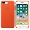 Apple iPhone 8 Plus/7 Plus gyári bőr hátlap tok, élénk narancs, MRGD2ZM/A