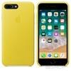 Apple iPhone 8 Plus/7 Plus gyári bőr hátlap tok, tavaszi sárga, MRGC2ZM/A