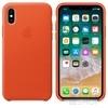 Apple iPhone X gyári bőr hátlap tok, élénk narancs, MRGK2ZM/A