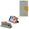 Apple iPhone X, Oldalra nyíló tok, stand, Canvas Book, szürke