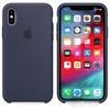 Apple iPhone XS gyári szilikon hátlap tok, éjkék, MRW92ZM/A