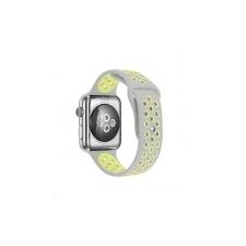 Apple Watch 1, 2, 3 38mm óraszíj- Handodo Double, szilikon szürke-sárga (121) óraszíj
