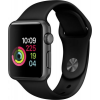 Apple Watch 3 GPS + Cellular 38mm Space Black Steel Case Black Band  MQLW2ZD/A