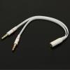 AppleKing Csökkentés / audio adapter fejhallgatónak - jack 3,5mm - 2 x 3,5mm