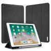 """AppleKing DUX DUCIS borító Apple Pencil tartóval Apple iPad 9.7"""" (2017) / iPad Air / iPad 2018 - fekete"""