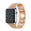 AppleKing Elegáns rozsdamentes acél szíj Apple Watch 42mm - rózsaszín-arany