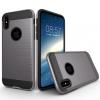 AppleKing Ellenálló védőtok iPhone X készülékre - csiszolt mintás - szürke