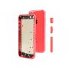 AppleKing Hátlap pótalkatrész gombokkal Apple iPhone 5C - rózsaszín