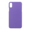 AppleKing Műanyag edzett matt hátsó fedél felső és alsó kivágással Apple iPhone X készülékre - lila
