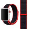 AppleKing Nejlon Apple Watch 3 / 2 / 1 szíj mágneses zárással - 42mm - piros / fekete