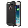 AppleKing Robusztus tok iPhone 5 / 5S / SE csiszolt mintázattal - fekete