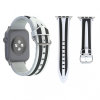 AppleKing Szilikon Apple Watch szíj - 42mm - fekete / fehér