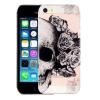 AppleKing Tok iPhone 5 / 5S / SE készülékre - művészi kivitelezés - koponya